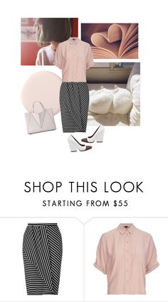 """""""White cuddly"""" by fivana ❤ liked on Polyvore featuring Miss Selfridge, Topshop and CÉLINE"""