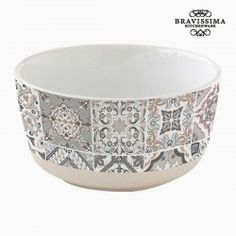If you want to add a touch of originality to your home, you will do so with Bowl Porcelain by Bravissima Kitchen. Material: Porcelain Colour: Grey Suitable for dishwashers and microwaves Design: Mosaic Bravissima Kitchen Micro Onde Design, Kitchenware, Tableware, Serving Dishes, Dishwasher, Decorative Bowls, Tray, Toque, Html