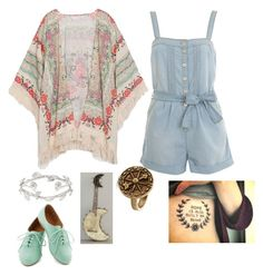 """""""Kimono outfit 2"""" by ginaisanerd ❤ liked on Polyvore featuring Miss Selfridge, Alexander McQueen and H.I.P."""