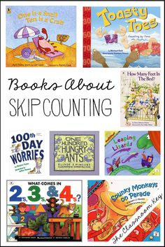 skip counting books, connect math and literacy