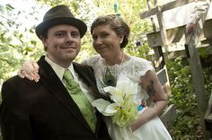 Jolene & Jasins bookworm weds artist wedding | Offbeat Bride