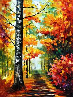 Soul Time  PALETTE KNIFE Landscape Modern Wall by AfremovArtStudio