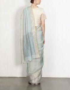 Stone Linen Sari-ANAVILA