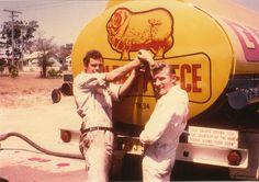 Golden Fleece tanker in country Australia.  v@e.