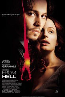 Official theatrical movie poster ( of for From Hell Starring Johnny Depp, Heather Graham, Ian Holm, Robbie Coltrane Halloween Movies, Scary Movies, Great Movies, Horror Movies, Scary Scary, Film Movie, Robbie Coltrane, Emission Tv, Francois Truffaut