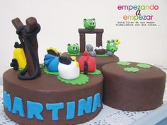 my angry birds cake by MJ Sweets & Parties