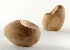 Wooden Egg Chair in The Motley III Furniture Collection by Samuel Chan for Channels Design Firm