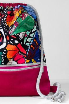 Backpack Bags, Fashion Backpack, Drawstring Bags, Vogue, Polish, Backpacks, Urban, Pink, Handmade