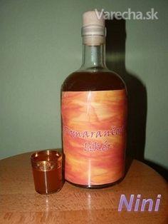 Pomarančový likér II. (fotorecept) Hot Sauce Bottles, Whiskey Bottle, Ale, Beverages, Smoothie, Food, Syrup, Ale Beer, Essen