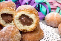 Italian Carnival doughnuts: castagnole al mascarpone e nutella