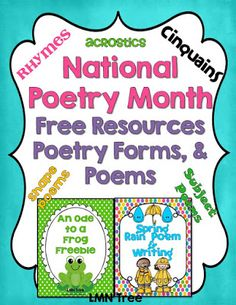 LMN Tree: Celebrate National Poetry Month with Free Resources and Poems.