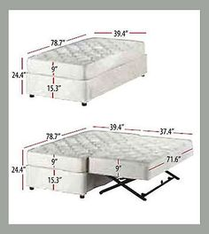 New Xl Twin Trundle Bed Deco Pop Up Trundle Combo Upholstered Bed Package