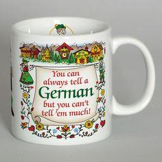 "German Coffee Cup: ""Tell A German"" – GermanGiftOutlet.com"