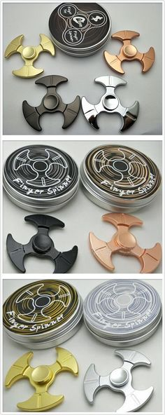 metal fidget spinners with boxes