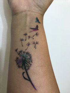 Dandelion Puff Tattoo on wrist - Dandelion Puff Tattoo on wrist - Cute Tattoos, Beautiful Tattoos, Body Art Tattoos, New Tattoos, Butterfly Wrist Tattoo, Dragonfly Tattoo, Wrist Tattoos For Women, Small Wrist Tattoos, Wrist Tattoos Quotes