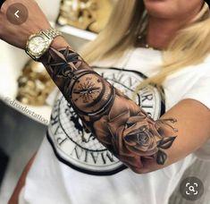 Forarm Tattoos, Forearm Sleeve Tattoos, Best Sleeve Tattoos, Tattoo Sleeve Designs, Body Tattoos, Hand Tattoos, Realistic Tattoo Sleeve, Octopus Tattoos, Tattoos Skull