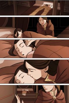 I'm glad she told Azula goodbye. I just wonder if she had been awake when Ursa left would she turn out as bad as she did.