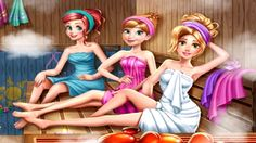 In Disney Princesses Sauna Realife, join your favorite Disney princesses to the sauna! Help Rapunzel get ready by changing her outfit into a more comfortable one and getting rid of the jewelry. Sister Poems, Princess Games, Sauna Room, Pin Up, Best Friends Forever, Games For Girls, Rapunzel, Fashion Art, Besties