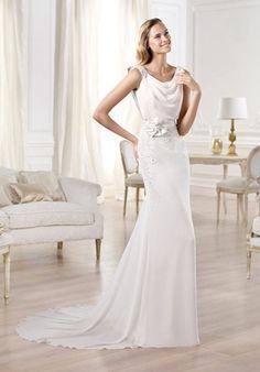 Bridal Gown Inspiration a board by www.myfauxdiamond.com #myfauxdiamond #weddings #jewelry  PRONOVIAS Fashion Collection - Olma