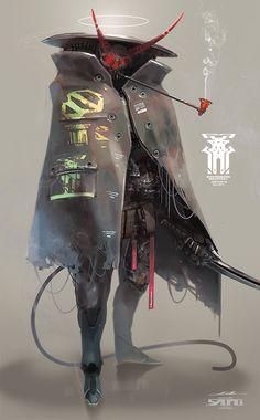えすてぃお on - SciFi - Shadowrun und Cyberpunk - Art Arte Cyberpunk, Cyberpunk Aesthetic, City Aesthetic, Fantasy Character Design, Character Concept, Character Inspiration, Character Art, Fantasy Anime, Dark Fantasy Art