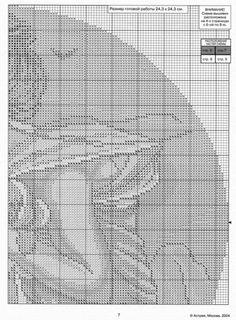 """Borduurpatroon Kruissteek """"De Maanden"""" van Alfons Mucha *Cross Stitch Pattern """"The Months"""" ~September 3/5~"""