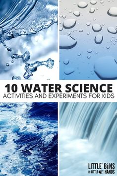 Fun water science activities for kids that are perfect for home school or camp. Engaging ways to explore water through science technology engineering and math with preschool kindergarten and early elementary age kids. Steam Activities, Science Activities For Kids, Kindergarten Science, Elementary Science, Science Classroom, Science Education, Water Theme Preschool, Science Ideas, Camping Activities