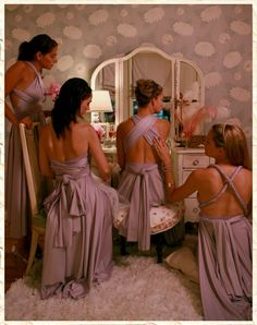 Convertible bridesmaid dresses, 15 convertible styles, 21 colors-  This would help make it unique