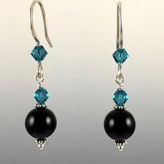 - Swarovski Crystal & Swarovski Crystal Pearls - 8mm Pearl at the bottom - 100% .925 Sterling Silver Earwires & Components with Rubber Backers - Earwires and Links are Hand Formed With Sterling Silver
