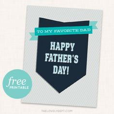 Free printable Father's Day card via The Lovely Dept.