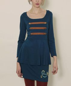 Take a look at this Blue Piopio Marine Dress by Titis Clothing on #zulily today!