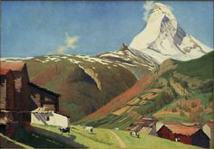The artwork F.Vallotton, View of Zermatt - Felix Vallotton we deliver as art print on canvas, poster, plate or finest hand made paper. Mountain Art, Mountain Landscape, Landscape Art, Landscape Paintings, Landscapes, Pierre Bonnard, Zermatt, Matisse, Toulouse