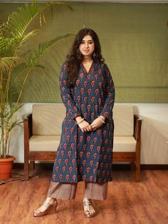 Kurta Palazzo, Indian Suits, Indian Designer Wear, Indian Ethnic, Handmade Clothes, Size Model, Daily Wear, Work Wear, Paisley
