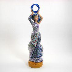 Goddess of Wisdom Figurine, Moebius Ring Series, Sophia, Mother of the Infinite Universe, Polymer Clay and Millefiori Sculpture - Edit Listing - Etsy Gaia Goddess, Polymer Clay Sculptures, Flowing Dresses, Divine Feminine, Infinite Universe, Altars, Canes, Goddesses, Statues