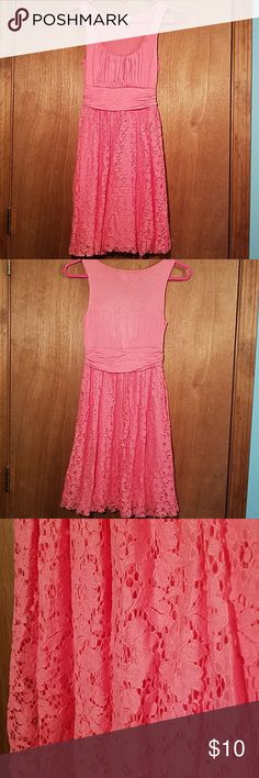 💕SALE💕 DELIA'S dress Juniors coral colored dress from Delias. Comes to just above the knee (see photo). Worn only once or twice. One side of the 'Delia's' tag came off and was sewn back on with one or two stitches of white thread. Been hanging in my closet for some years. If you loved Delia's like I did this is a great buy! I'm a size 4 in dresses and this XS fits me. Super cute for juniors girls! Delia's Dresses Midi