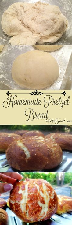 A great recipe for Pretzel Bread, I made my pretzel bread into rolls and used them as hamburger buns. It's super easy to make this recipe and everyone will thank you for it! | MmGood.com