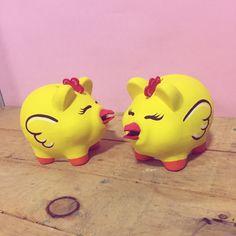 Piggy Bank, Roof Tiles, Unicorn, Fiestas, Money Bank