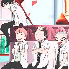 Blue Exorcist ~~~ Rin's expression is a HOOT!!!