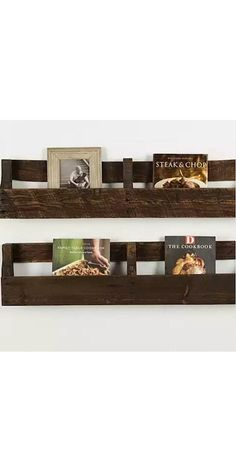 These handcrafted reclaimed wood pallet shelves come in a set of 2 and are the perfect rustic touch to any space. They make for a great way to hold cookbooks in a kitchen or to hold photographs and books in a bedroom. Keep organized while simultaneously adding rich tones and texture to your home. Plus, these beautiful floating shelves are over 20% off for a limited time!
