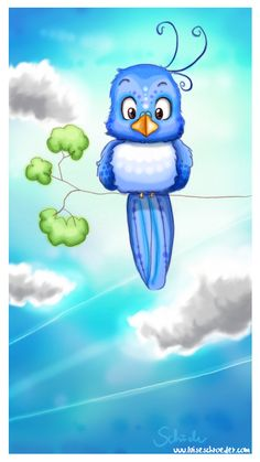 blue sky-bird by *PinkBunnyLilli on deviantART