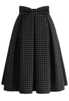Sweet Your Heart Jacquard Midi Skirt in Polka Dots - Skirt - Bottoms - Retro, Indie and Unique Fashion