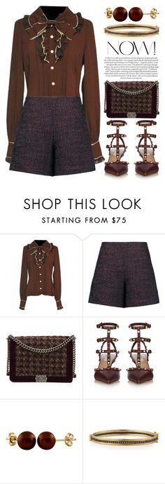 """Tweed Bag 2626"" by boxthoughts ❤ liked on Polyvore featuring Carven, Chanel, Valentino, Splendid Pearls and Armenta"
