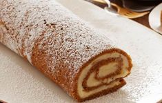 Thanksgiving: Pumpkin Roulade with Ginger Buttercream recipe from Ina Garten via Food Network Thanksgiving Recipes, Holiday Recipes, Holiday Ideas, Holiday Foods, Fall Recipes, Food Network Recipes, Cooking Recipes, Pie Recipes, Delicious Recipes