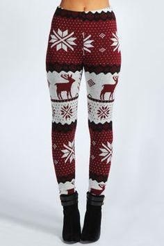 Renalie Reindeer Knit Leggings