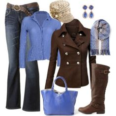 brown/blue