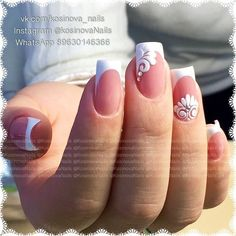 We all want beautiful but trendy nails, right? Here's a look at some beautiful nude nail art. Cute Nails, Pretty Nails, My Nails, Bridal Nail Art, Wedding Nails Design, Bride Nails, French Tip Nails, Nagel Gel, Flower Nails