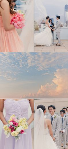 NYC Wedding at Tribeca Rooftop from Mademoiselle Fiona | The Wedding Story