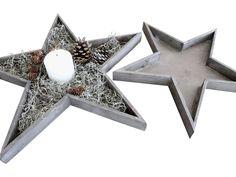 Dřevěný dekorativní tác Star | Bella Rose
