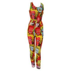 Iconic Gianni Versace Marilyn Printed Ensemble Spring 1991