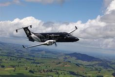 Air New Zealand Beech 1900 in All Black livery
