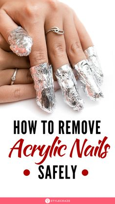 How To Remove Acrylic Nails Safely: Acrylic nails are the hottest trend and are the easiest way to add some length and glam to your nails. Here are the easiest ways to remove those stubborn acrylic nails at home with simplest of the items. Take Off Acrylic Nails, Light Pink Acrylic Nails, Acrylic Nail Designs Coffin, Acrylic Nails Stiletto, French Tip Acrylic Nails, Short Square Acrylic Nails, Remove Acrylic Nails, Natural Acrylic Nails, Acrylic Nails At Home